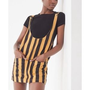 Urban Outfitters Overall Striped Dress, XS